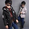 Meninos casaco de inverno 2016 novas Crianças moda Espessamento Casacos Quentes Roupas casaco jaqueta De Algodão crianças 4-14Years