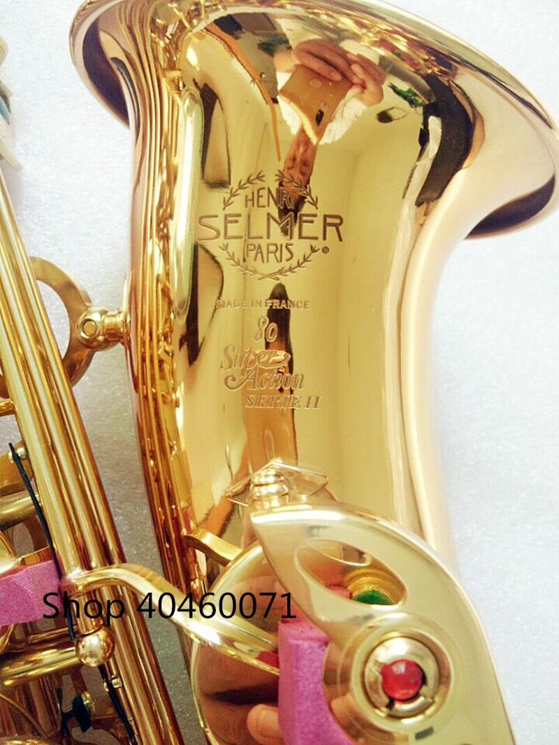 Saxophone Alto Eb France SELMER SAS-802 model Sax golden Alto Saxopfone Specializes musical instruments Gift way shipment free shipping new high quality tenor saxophone france r54 b flat black gold nickel professional musical instruments