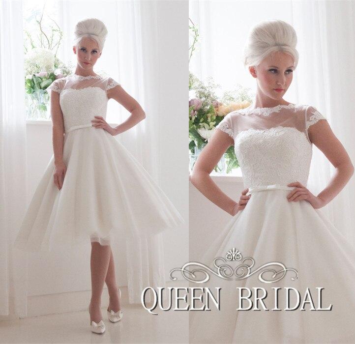 Vestido de noiva curto vestido de novia de princesa short vintage vestidos de no