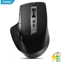 Rapoo Rechargeable Multi mode Wireless Mouse Bluetooth 3.0/4.0 and 2.4G switch between 4 Devices Connection computer mouse