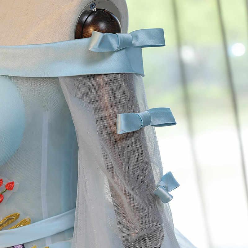 Azul Quinceanera Vestidos Coloridos Mangas Compridas Lace Princesa vestido de Baile Para Baile Sweet Sixteen Vestidos de Vestidos De 15 Años 16