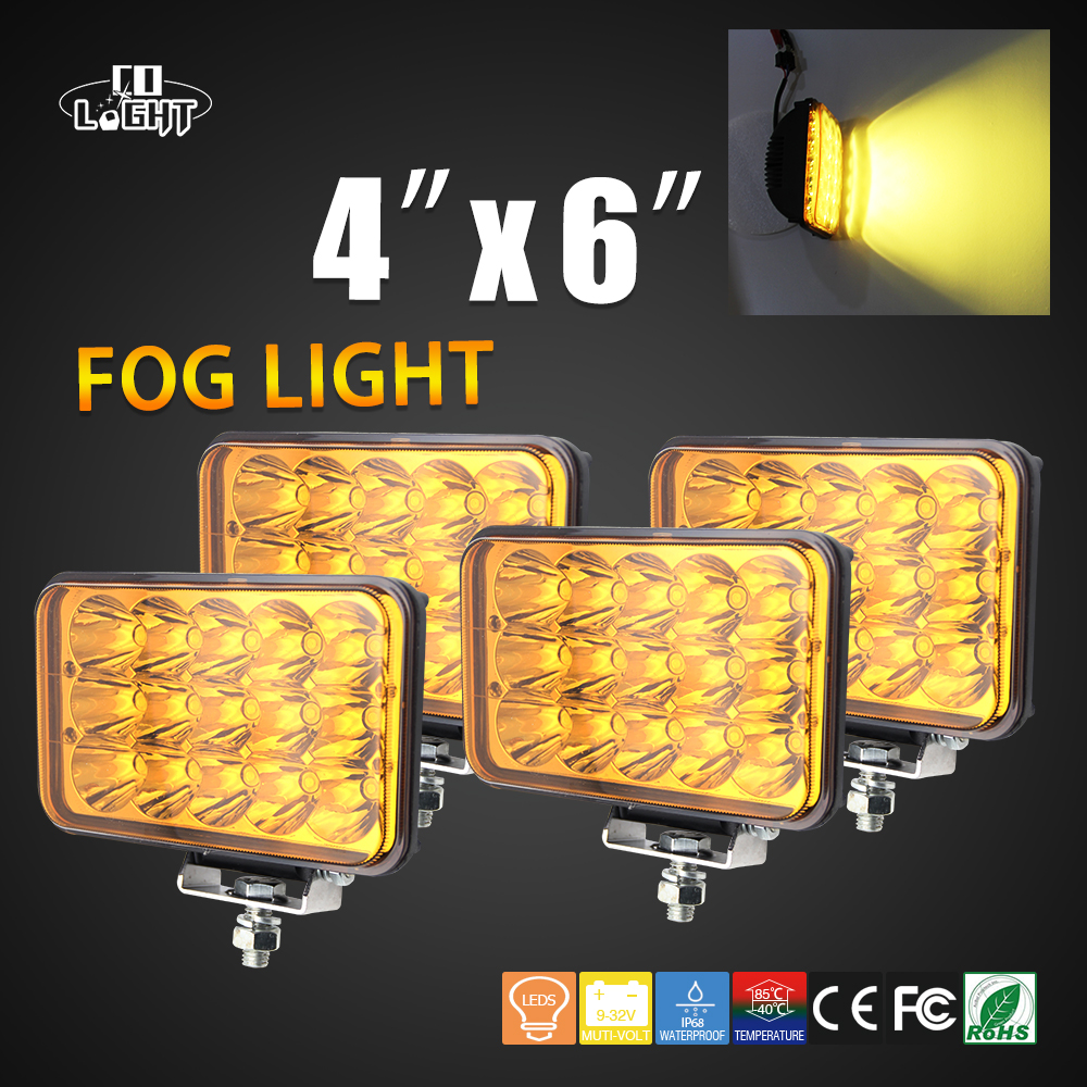 COLIGHT Auto Led Fog Lights 12V 45W Led Car Light Daytime Running Lights Signal Light Lamp for Offroad Jeep WranglerCar Styling auto super bright 3w white eagle eye daytime running fog light lamp bulbs 12v lights car light auto car styling oc 25