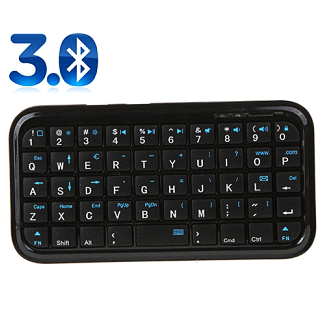NOYOKERE Portable Black Slim Mini Bluetooth Wireless Keyboard For Tablet PC Cellphone ...