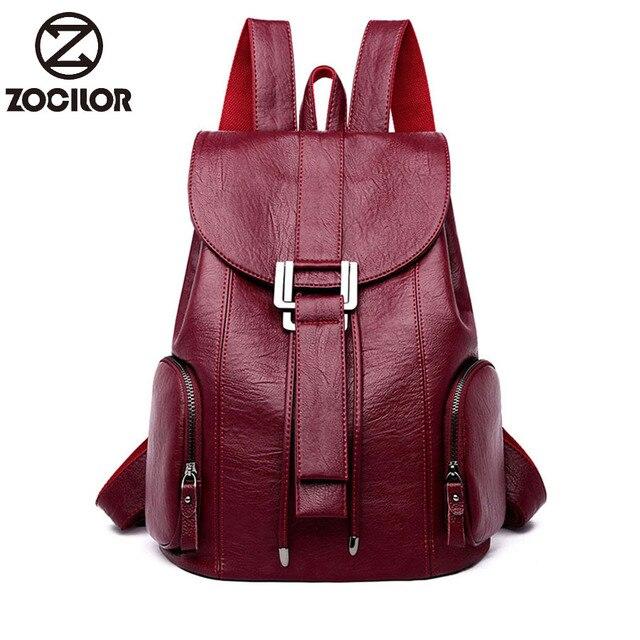 Moda yüksek kaliteli yumuşak deri kadın sırt çantası büyük kapasiteli okul çantası kız için marka omuzdan askili çanta bayan çantası seyahat sırt çantası