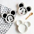 Детские Творческие Посуда Керамическая Форма Младенческой Кормления Пластины Малыш Фрукты Блюда Белый Черный Дети Посуда
