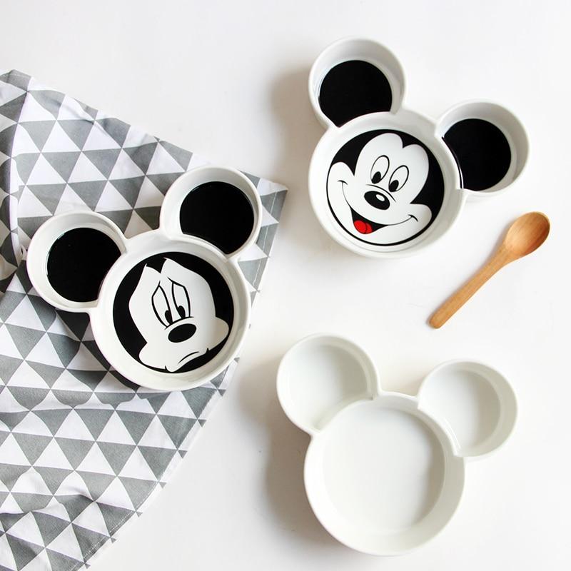 Baby Creative Tableware Ceramic Shape Baby Infant Feeding Plate Kid Fruit Dishes White Black Children Tableware
