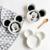 Bebê Criativo Talheres Pratos de Cerâmica Placa de Forma Infantil de Alimentação Do Bebê Kid Fruit Branco Preto Crianças Talheres