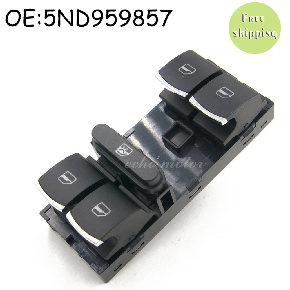 цена на 5ND959857 For VW Touran Tiguan Passat B6 B7 CC Golf Mk5 MK6 Jetta III AMAROK Driver Side Master Window Controller Switch Chrome