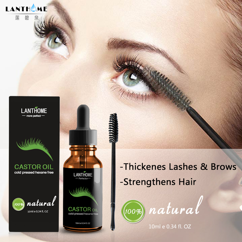 37387d84641 10ml Castor Oil Hair Growth Serum for Eyelash Growth Lifting Eyelashes  Thick Eyebrow Growth Enhancer Eye