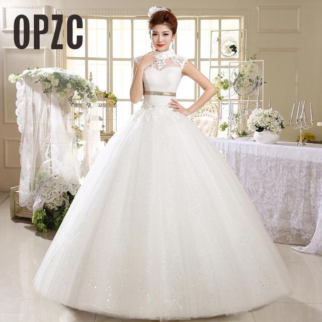 4c4aa93000a Velnosa Rea Photo Wholesale Vestido De Noiva 2017 New Summer Style Stand up  Neck Lace Appliques Bride Gown Princess Casamento HS