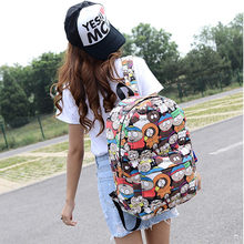 Graffiti Canvas Backpack Students School Bag For Teenage Girls Boys Backpacks Street Bags Cartoon Printing Rucksack Cool XA1065C