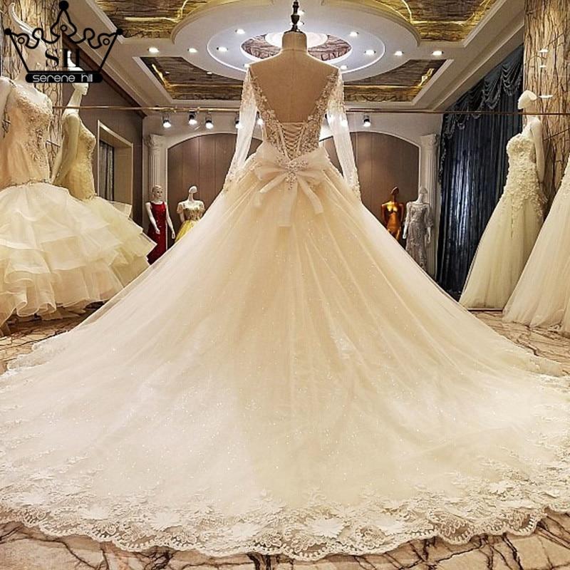 Gorgeous Off Shoulder Long Sleeve Low Back Wedding Dresses 2018 New ...