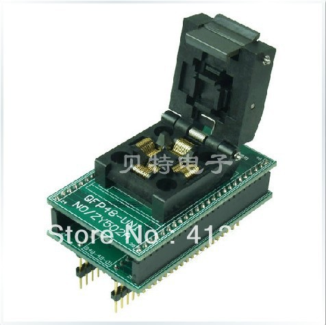 Block QFP48 DIP48 ucos dedicated IC, ZY502A burning test socket adapter