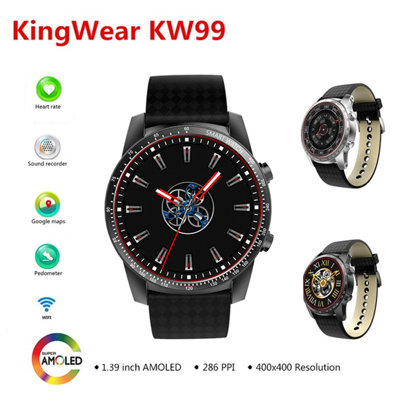 KingWear KW99 3G WIFI GPS GPM Smartwatch Phone Android 5.1 8GB ROM Bluetooth 4.0 MP3 Heart Rate Monitor SIM Sport Smart Watch dx5 printer head cap for dx5 print head solvent printer for mutoh rj900c vj1604w vj1604e mimaki jv33 solvent ink printer