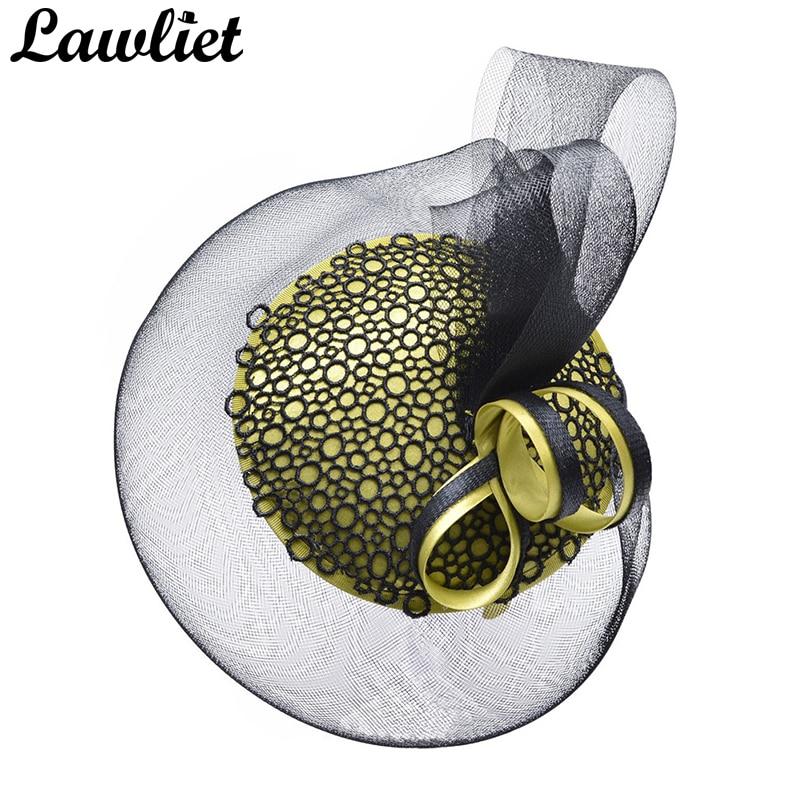 e246520f0753c 1pcs womens ladies hats fascinators race day kentucky derby church wedding  party headband bridal headband t244