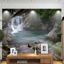 Factory direct fashion retro Nordic waterfall living room, bedroom, sofa, TV background wall