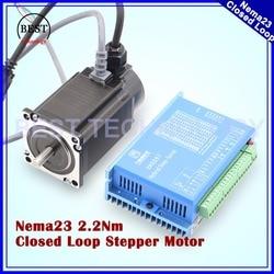Nema23 Ad Anello Chiuso 2.0N.m Del Motore Passo-passo 4 fili 285Oz-in D = 8mm Nema 23 2.2Nm Anello Chiuso Motore Passo-passo servo Motore Passo A Passo