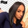 Шелк лучших человеческих волос боб парики шелковистая прямая Glueless необработанные девственницы бразильские шелковый топ фронта парики черные женщины