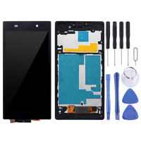 LCD Display + Touch Panel with Frame for Sony Xperia Z1 / L39h / C6902 / C6903 / C6906 / C6943(Black)