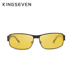 Image 5 - KINGSEVEN Night Vision แว่นตากันแดดผู้ชายแว่นตาสีเหลืองขับรถแว่นตา Polarized Sun แว่นตา Night gafas de sol