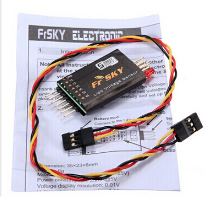 Frsky FLVSS Lipo Voltage Upgrade Sensor and Display For 2-Way Telemetry System Free ShippingFrsky FLVSS Lipo Voltage Upgrade Sensor and Display For 2-Way Telemetry System Free Shipping