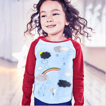 T-Shirts Toddler Kids Baby Girl Long Sleeve Rainbow Print T shirt Tops Clothes Outfit Blusa Menina(China)