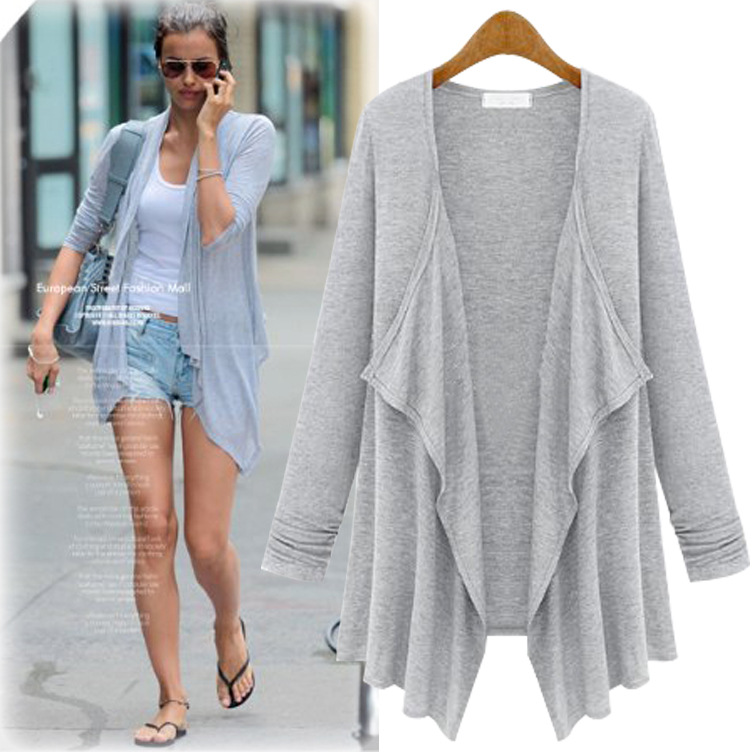 Women Casual Cardigan for 2017 Fashion Autumn Long Sleeves Solid ...
