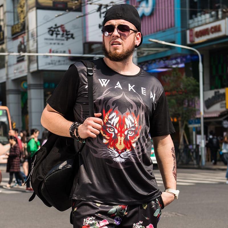 Le SoftFox o-cou T-shirts hommes Swag drôle coton à manches courtes T-shirts 2017 nouvelle mode été Style t-shirt