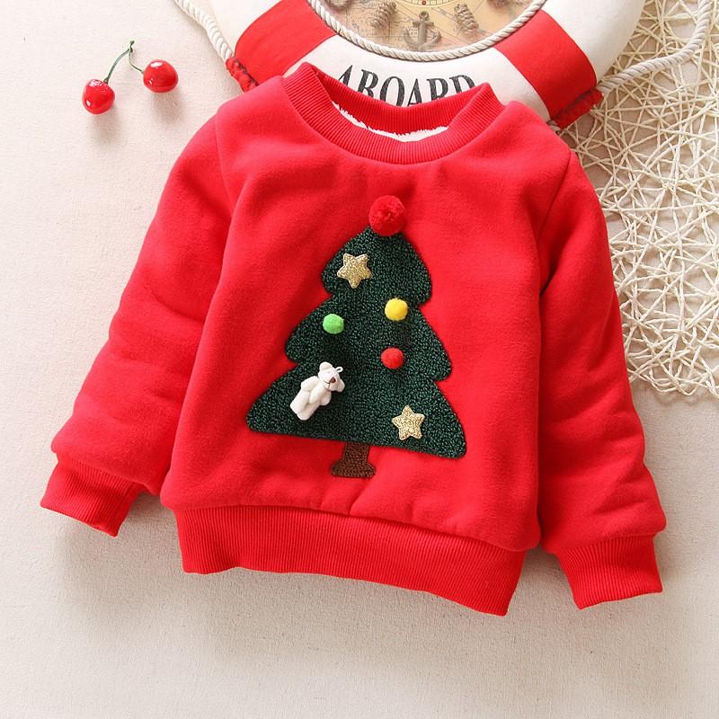 BibiCola-Winter-Children-Kids-Boys-Girls-Christmas-Sweater-baby-Plus-Velvet-Thick-Sweatshirts-Girls-Christmas-tree (2)