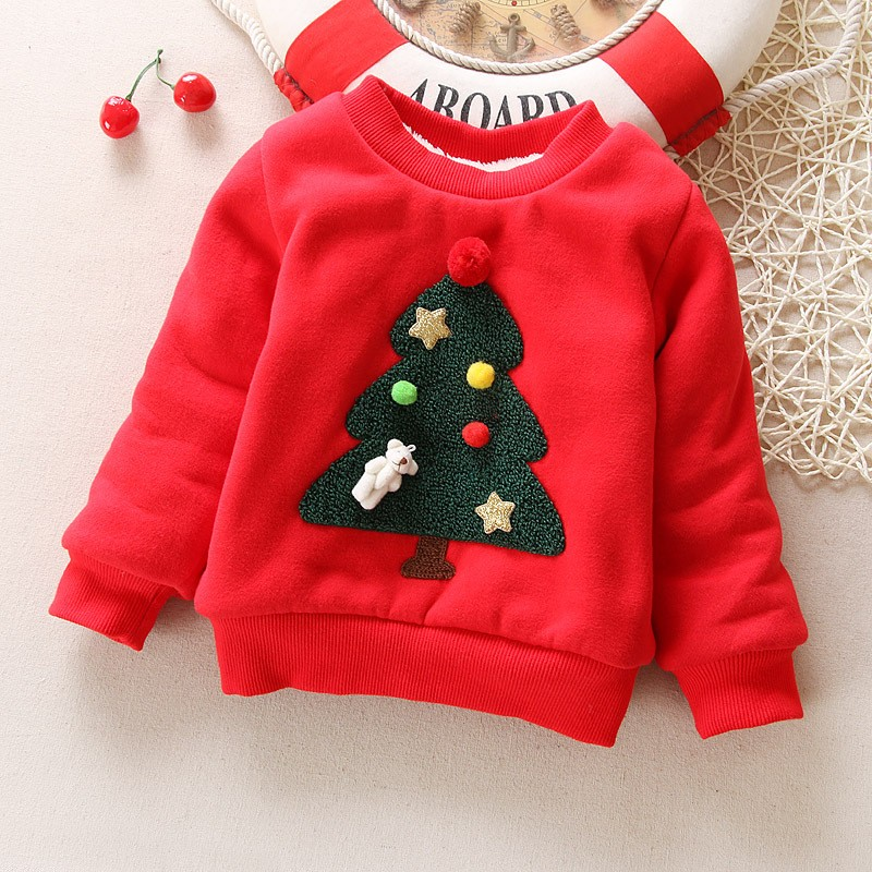 BibiCola-Winter-Children-Kids-Boys-Girls-Christmas-Sweater-baby-Plus-Velvet-Thick-Sweatshirts-Girls-Christmas-tree (2)