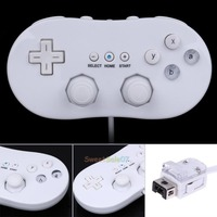 White Remote Console Wired Classic Controller Joystick For Nintendo Wii Game