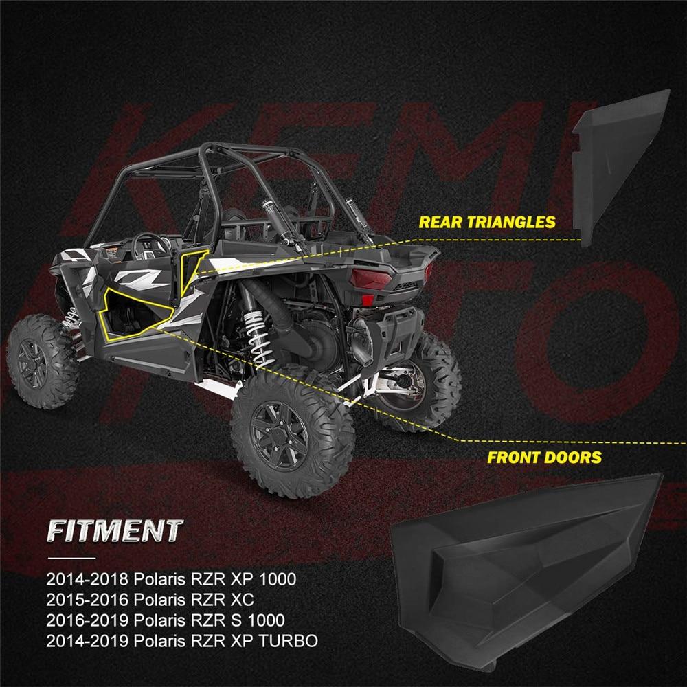 KEMiMOTO Lower Door Panel Inserts for Polaris RZR S 900 1000 2016 RZR XP S  Turbo 1000 2879509 RZR XP 1000 2014 2015 2016