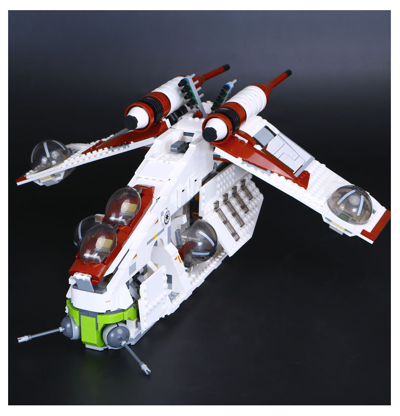 Lepin 05041 Star Genuine War Series The The Republic Gunship Set Educational Building Blocks Bricks Toys 75021 rollercoasters the war of the worlds
