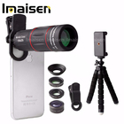 Optical 18X Zoom Telescope Lens Cell Phone Camera Lens Kit Wide angle Macro Fisheye with Remote Shutter
