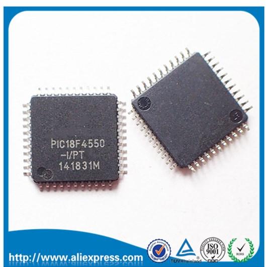 1 PCS Lot PIC18F4550-I/PT QFP PIC18F4550 18F4550 TQFP44 PIC18F4550-I 18F4550-I/PT Original IC Free Shipping