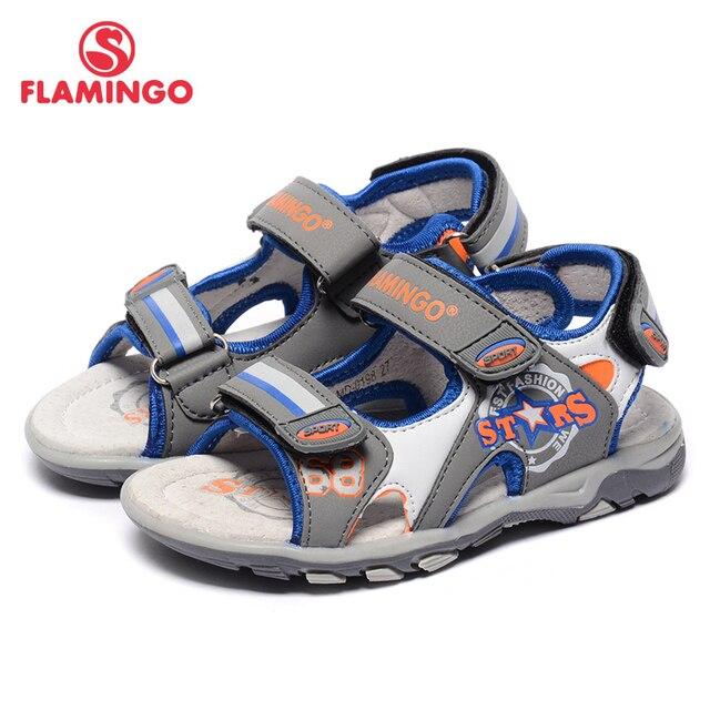 Flamingo известный бренд 2017 новых прибытия весенние и летние дети мода высокого качества сандалии для мальчиков 71s-lmd-0198