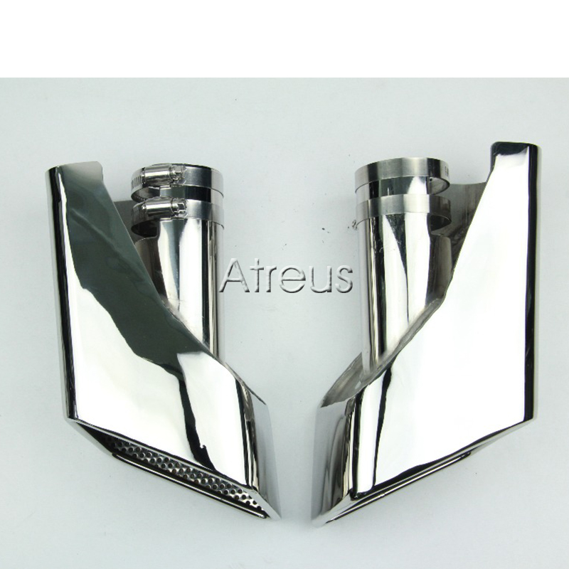 1set Chrome 304 Stainless Steel Car Exhaust Pipe Muffler Tips For 2005 - 2012 Land Rover Range Rover gasoline Accessories stainless steel car exhaust pipe tips dual muffler tips tailpipe for mercedes w220 benz s class s430 s500 amg accessories