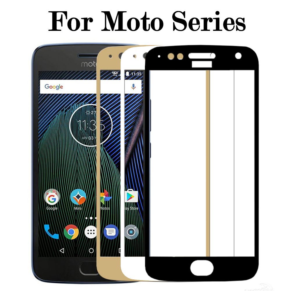 For Moto E4 Plus Tempered Glass For Moto G5s Plus Screen Protector 2.5D Curved Edge Full Cover G5 s Protective Film 0.26mm 9H