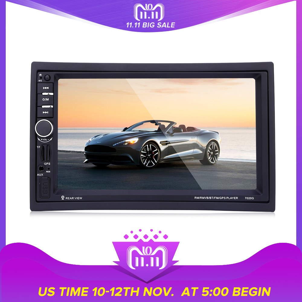 7020G Autoradio 2 din GPS Navigation 7 Inch Car MP5 Player Bluetooth HD Touch Screen With Rear View Camera Auto FM Radio IOS 7020g 2 din 7 inch car mp5 player bluetooth hd touch screen with gps navigation rear view camera auto fm radio autoradio ios