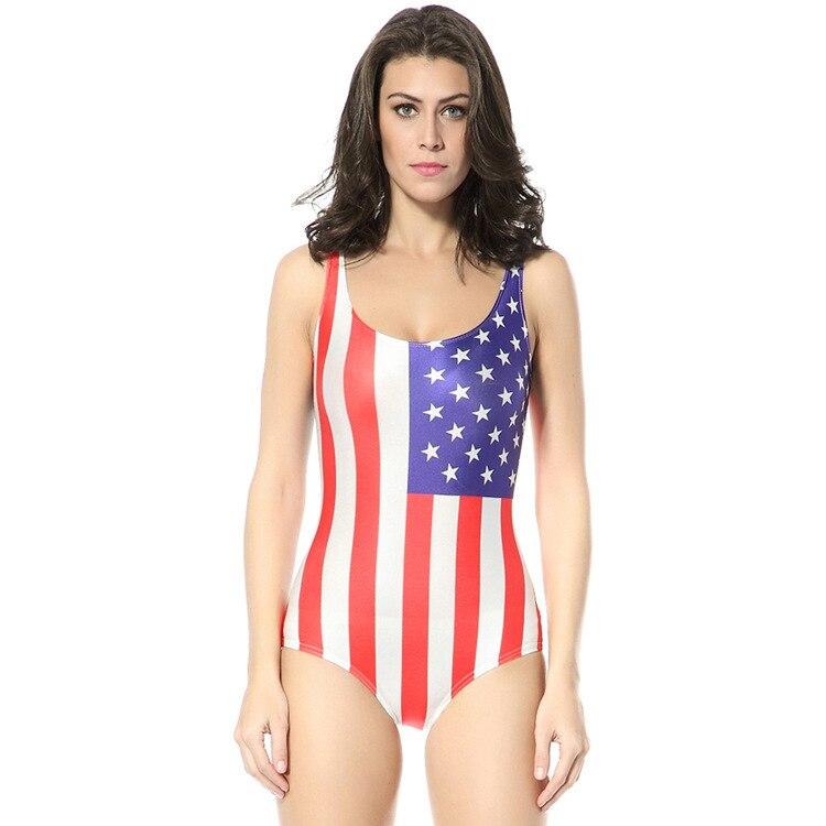 Sexy Women Printed Bikini One Piece Swimsuit Hollow-Out Bathingsuit Beachwear With Scrawl Summer Wear