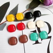 DIY hand-made earring material, non-porous resin, translucent, irregular, regular, homemade earnail accessories.