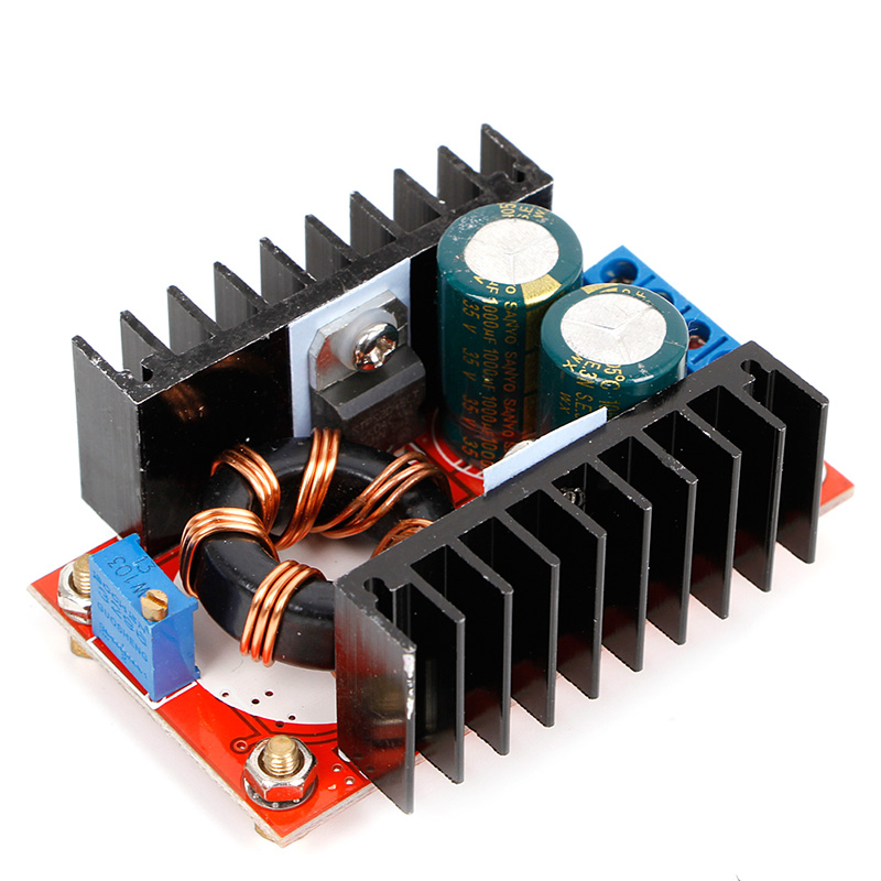 OOTDTY DC-DC Boost Converter 150W 10A 10V-32V to 12V-35V Step Up Power Supply Module