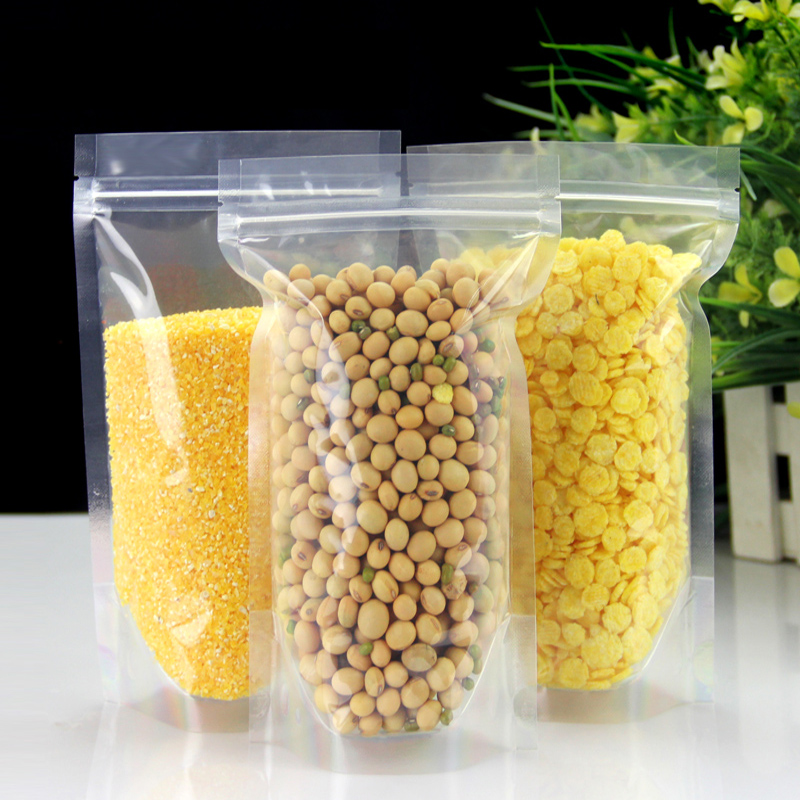 100 stks-500 stks Transparante Hersluitbare Stand Up Plastic Zakken, - Home opslag en organisatie - Foto 4