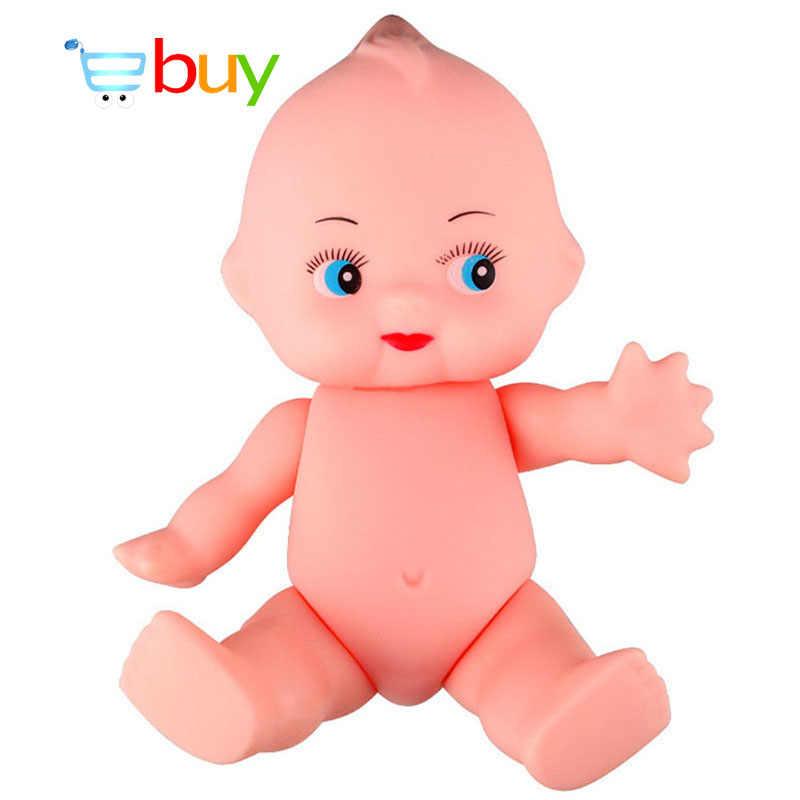 DIY Simulação Brinquedos De Banho para Crianças Renascer Emulado Kewpie Boneca Macia Figura Infantil Artesanato Newborn Boy Girl Presentes de Aniversário