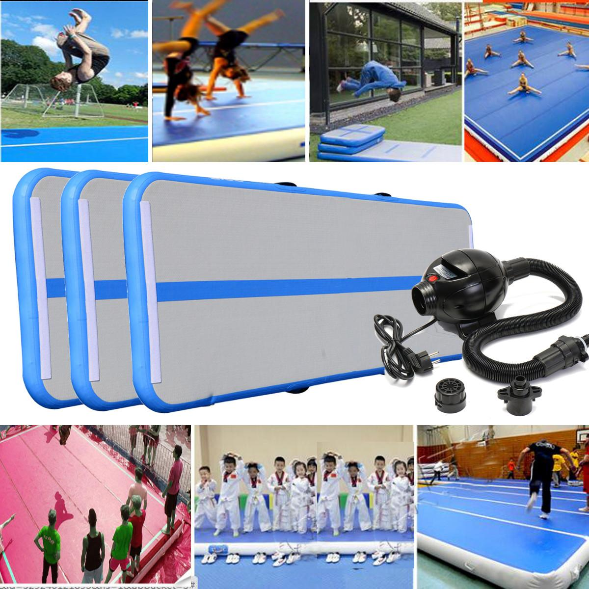 Gofun AirTrack Inflatable Air Track Gym Cheerleading Tumbling Gymnastics Exercise Mat Balance Beam Pad Cheer Skills Training gofun airtrack 10ft x 3 ft air tumbling track mat gymnastics exercise pad inflatable gym training mats balance beam 110v air