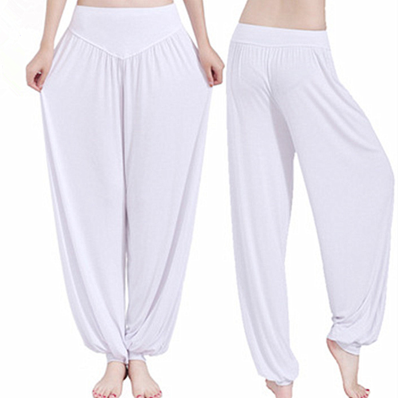Women 2016 new modal pants yo-ga pants dance pants female loose casual pants lady dancing large size 16-colors trousers S2783