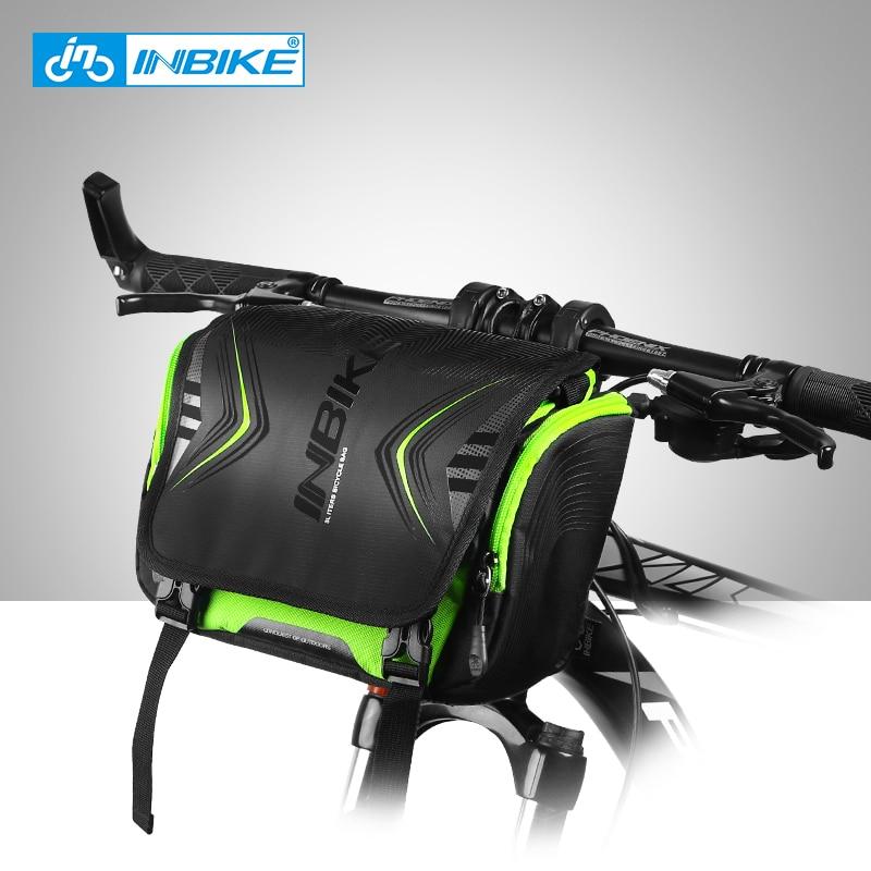 цена на INBIKE Waterproof Bike Bag Large Capacity Handlebar Front Tube Bag Bicycle Pocket Shoulder Backpack Cycling Bike Accessories H-9
