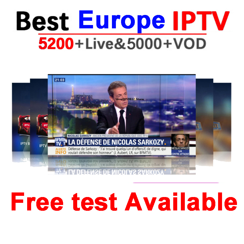 Iptv Subscription French Spain 6000+Live France Arabic Germany Portugal Adult Subscription For Smart Tv Iptv M3u Android Tv Box