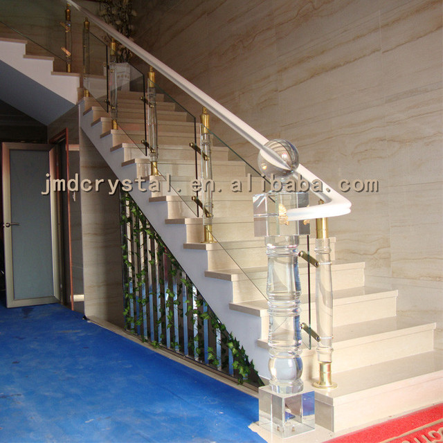 Crystal Gl Stairs Railings Staircase Designs Indoor Outdoor Balcony Railing Stair
