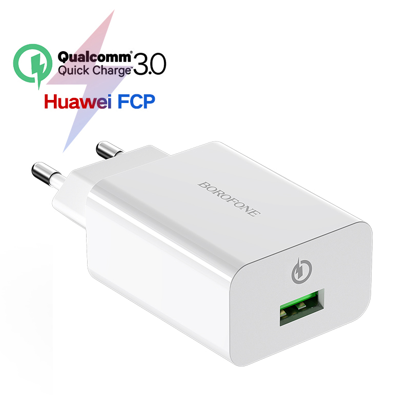 18W Quick Charge 3 0 Fast Mobile Phone Charger EU Plug Wall USB Charger Adapter for